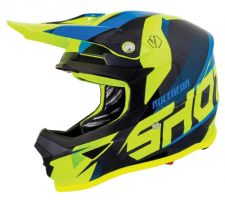 SHOT 2019 Ultimate Blue Neon Yellow Glossy Motocross Helmet